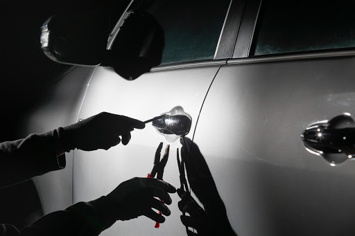 A person working on car