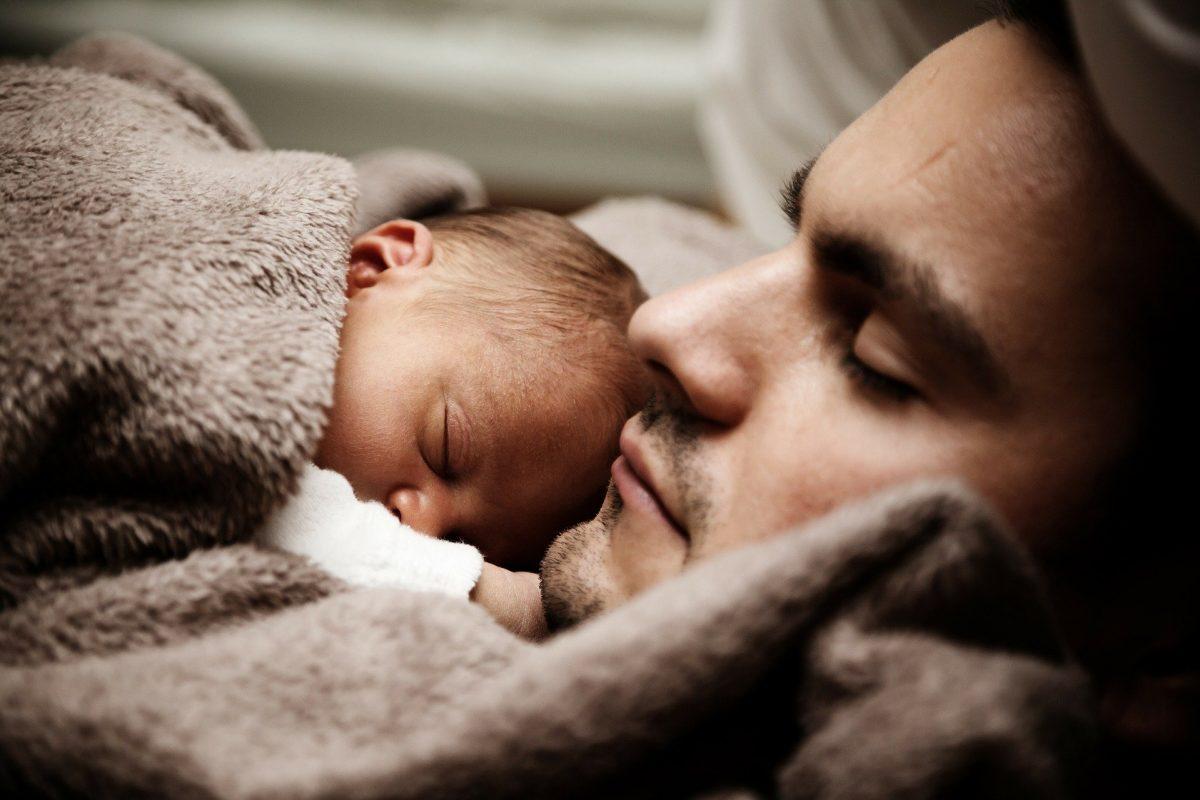 Father Baby Portrait Infant Newborn Child Dad